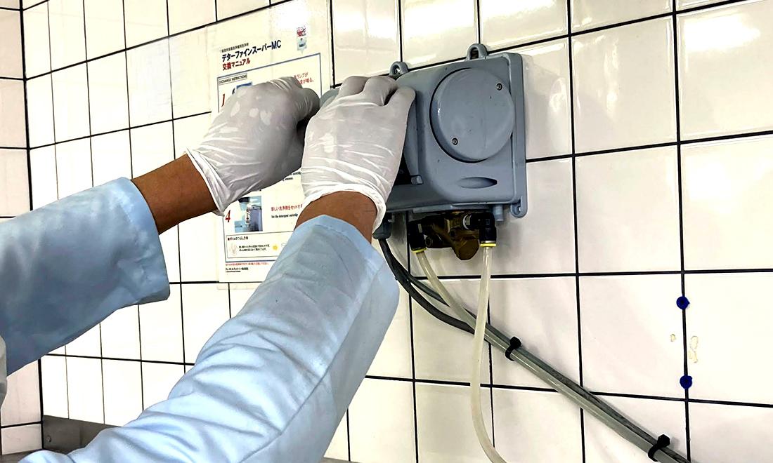 洗剤・リンス剤を適切にお使いいただくためにシステムを構築します